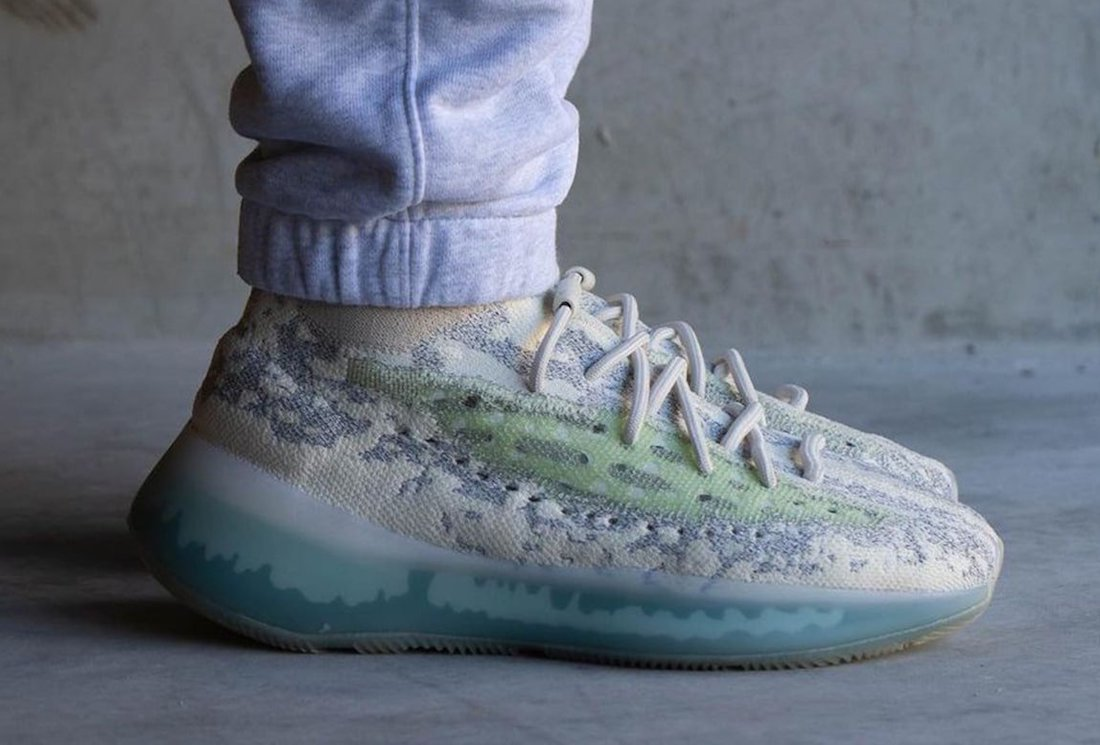 adidas Yeezy Boost 380 Alien Blue GW0304 On-Feet