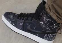 Air Jordan 1 KO Paisley On Feet
