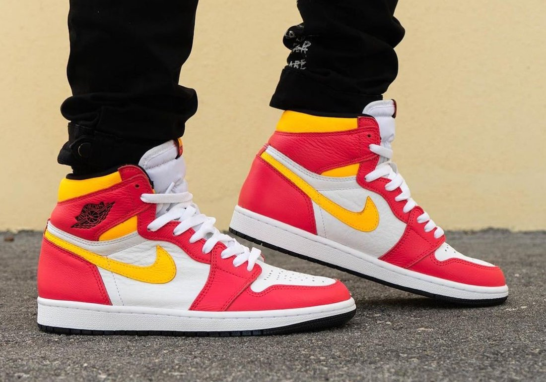 Air Jordan 1 Light Fusion Red Laser Orange 555088-603 On-Feet