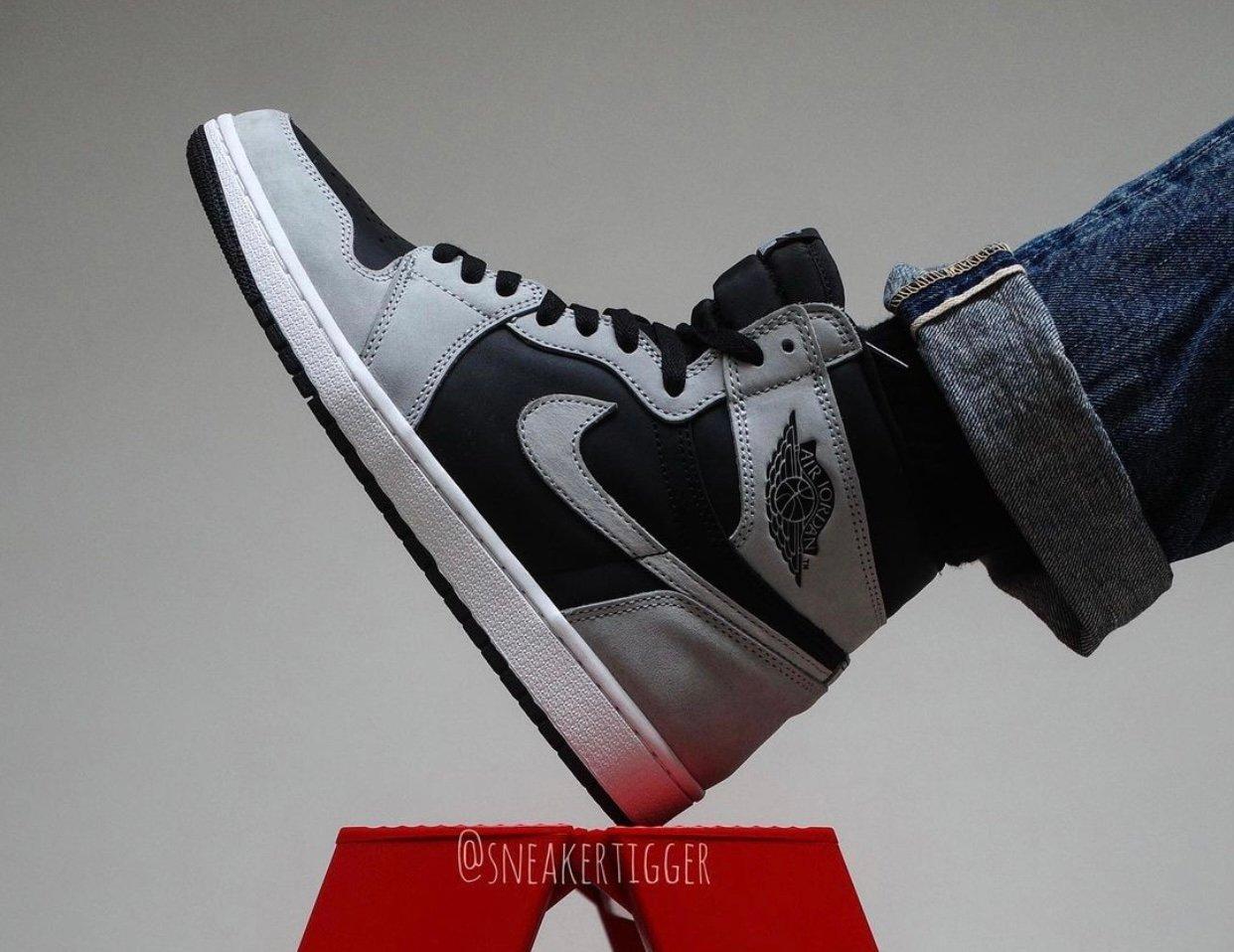 Air Jordan 1 Shadow 2.0 Smoke Grey 555088-035 Release
