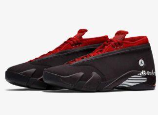 Air Jordan 14 Low WMNS Black Metallic Silver Gym Red DH4121-006 Release Date Info