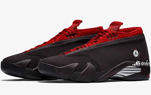 Air Jordan 14 Low WMNS Black Metallic Silver Gym Red Release Date
