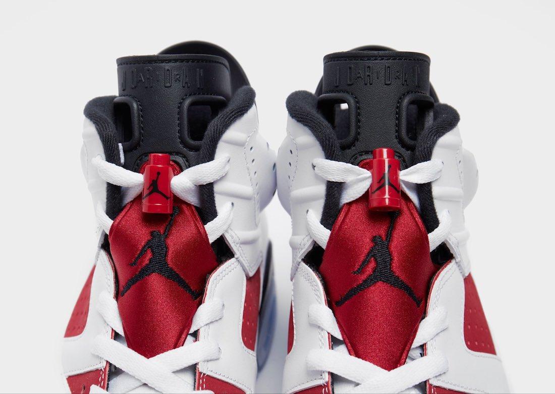 Air Jordan 6 Carmine CT8529-106 Tongue