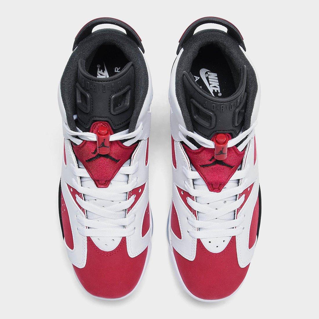 Air Jordan 6 Carmine GS 384665-106 Release Date