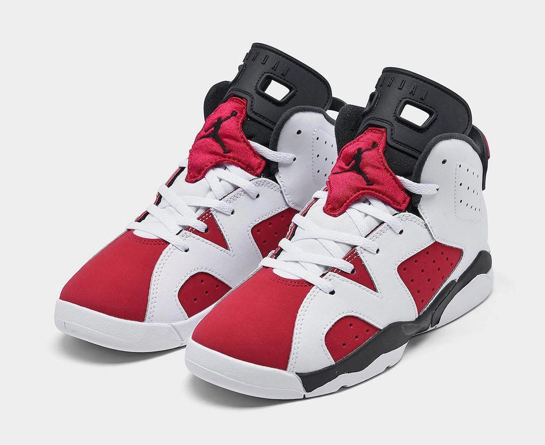 Air Jordan 6 Carmine PS Pre-School 384666-106 Release Date