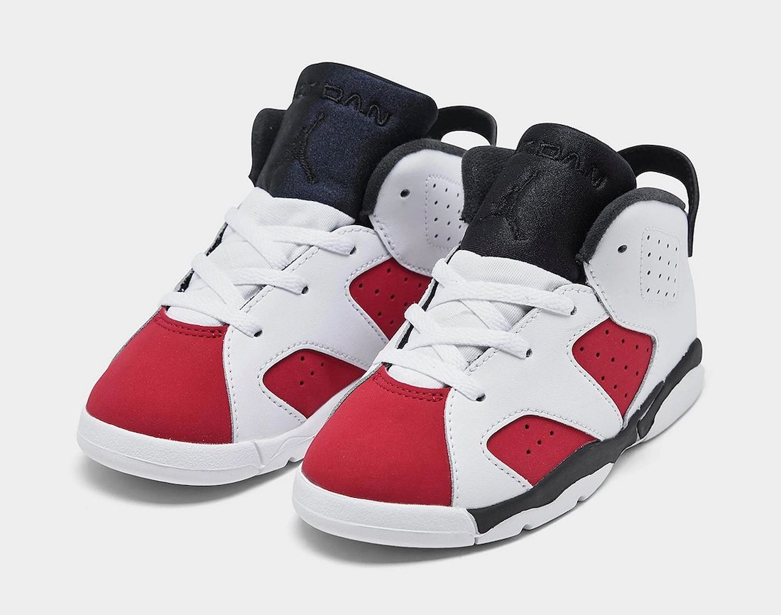 Air Jordan 6 Carmine TD Toddler 384667-106 Release Date