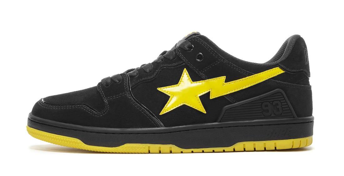 Bape SK8 Sta Black Yellow 2021 Release Date Info