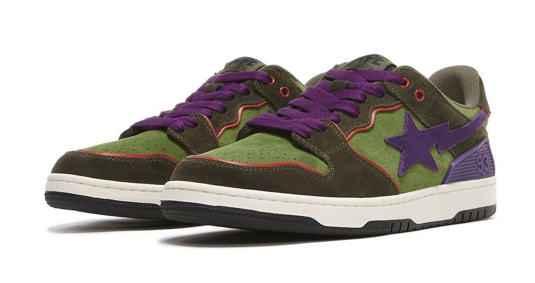 Bape SK8 Sta Purple Green 2021 Release Date Info