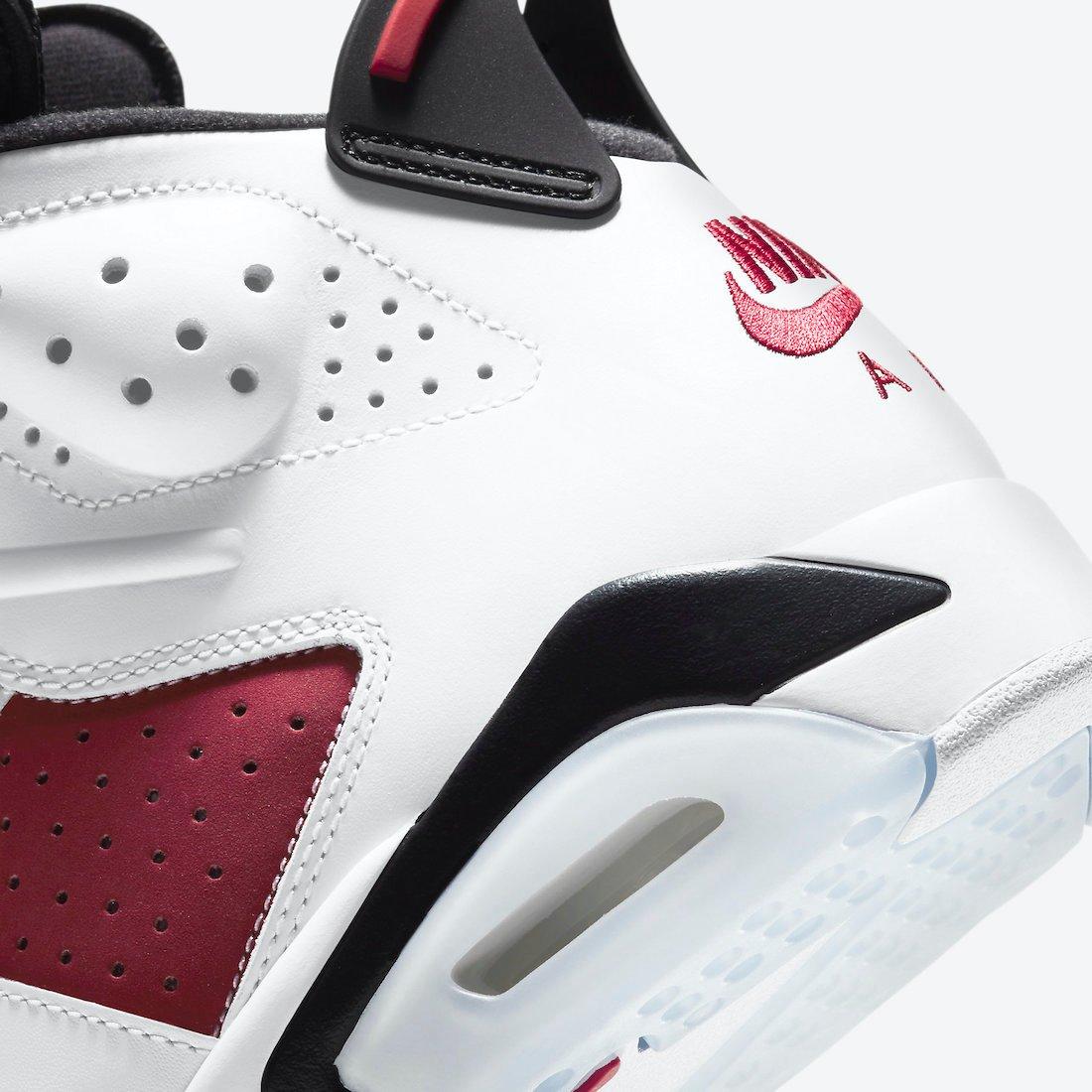 Carmine Air Jordan 6 CT8529-106 Release Date