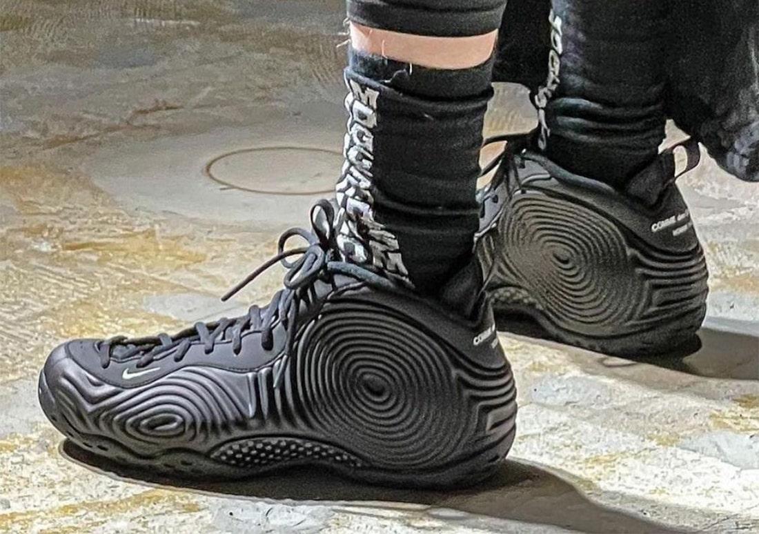 CDG Nike Air Foamposite One Black Release Date Info