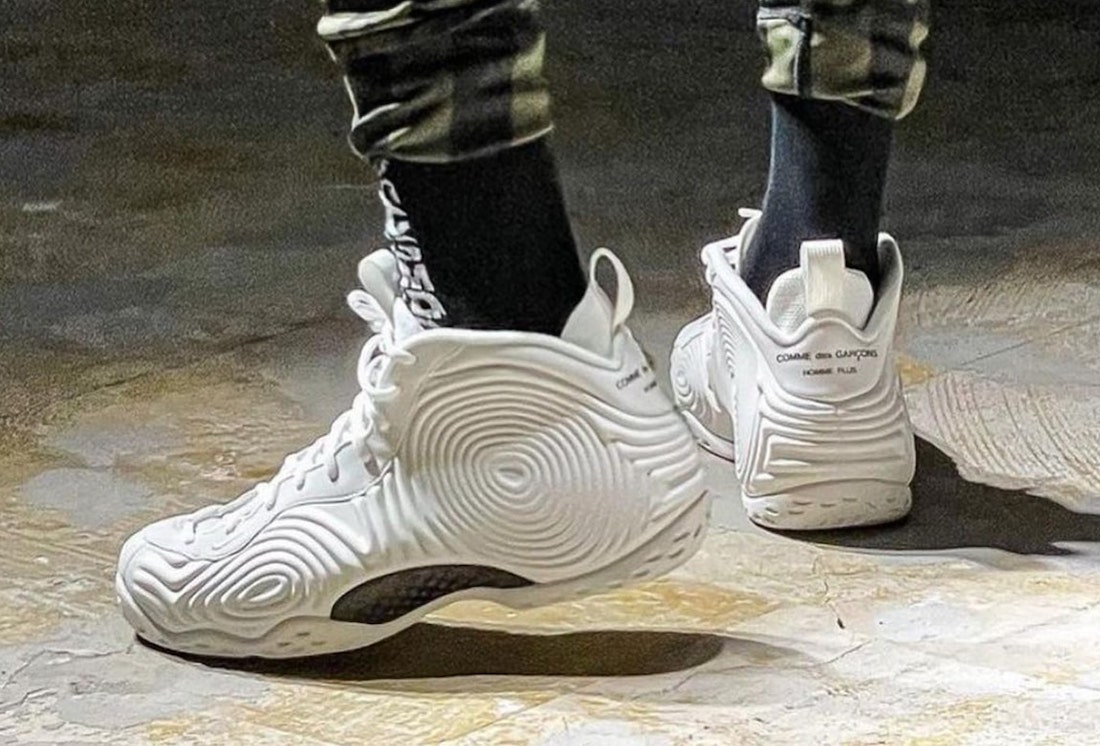 CDG Nike Air Foamposite One White Release Date Info