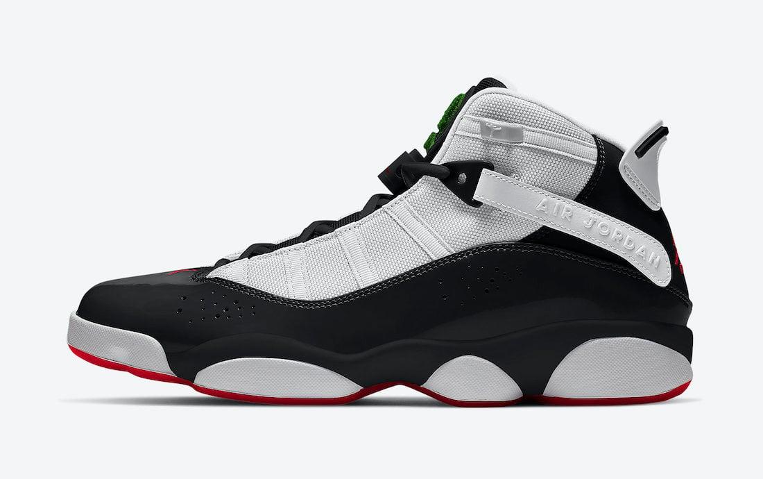 Jordan 6 Rings Black White Red 322992-008 Release Date Info