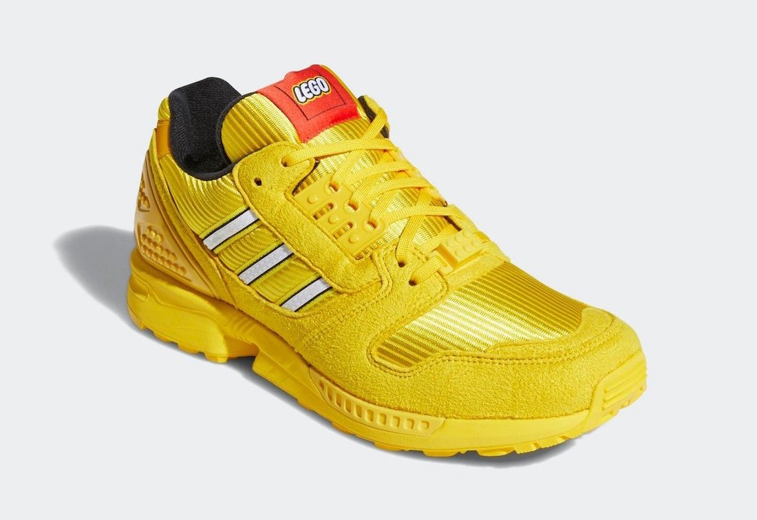 LEGO adidas ZX 8000 Yellow FY7081 Release Date Info
