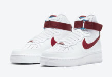 Nike Air Force 1 High Team Red Green Abyss 334031-119 Release Date Info