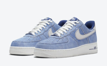 Nike Air Force 1 Low Dusty Blue Suede DH0265-400 Release Date Info