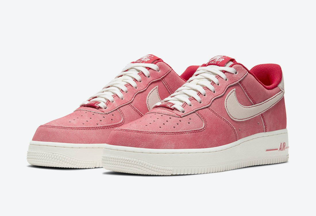 Nike Air Force 1 Low Dusty Red Suede DH0265-600 Release Date Info   SneakerFiles