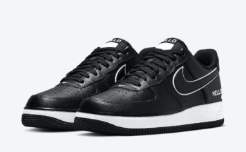 Nike Air Force 1 Low Hello Name Tag Black White CZ0327-001 Release Date Info