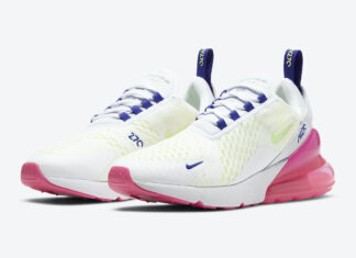 Nike Air Max 270 White Blue Green Pink DH0252-100 Release Date Info