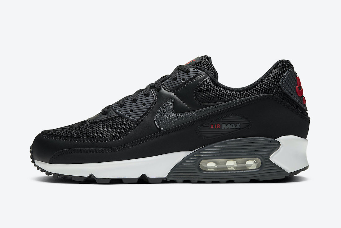 Nike Air Max 90 Black University Red DH4095-001 Release Date Info
