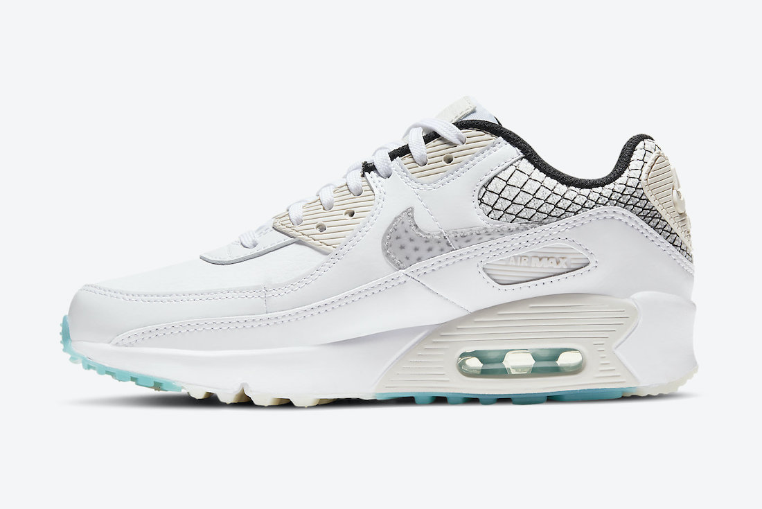Nike Air Max 90 GS White Black Netting DB4187-100 Release Date Info