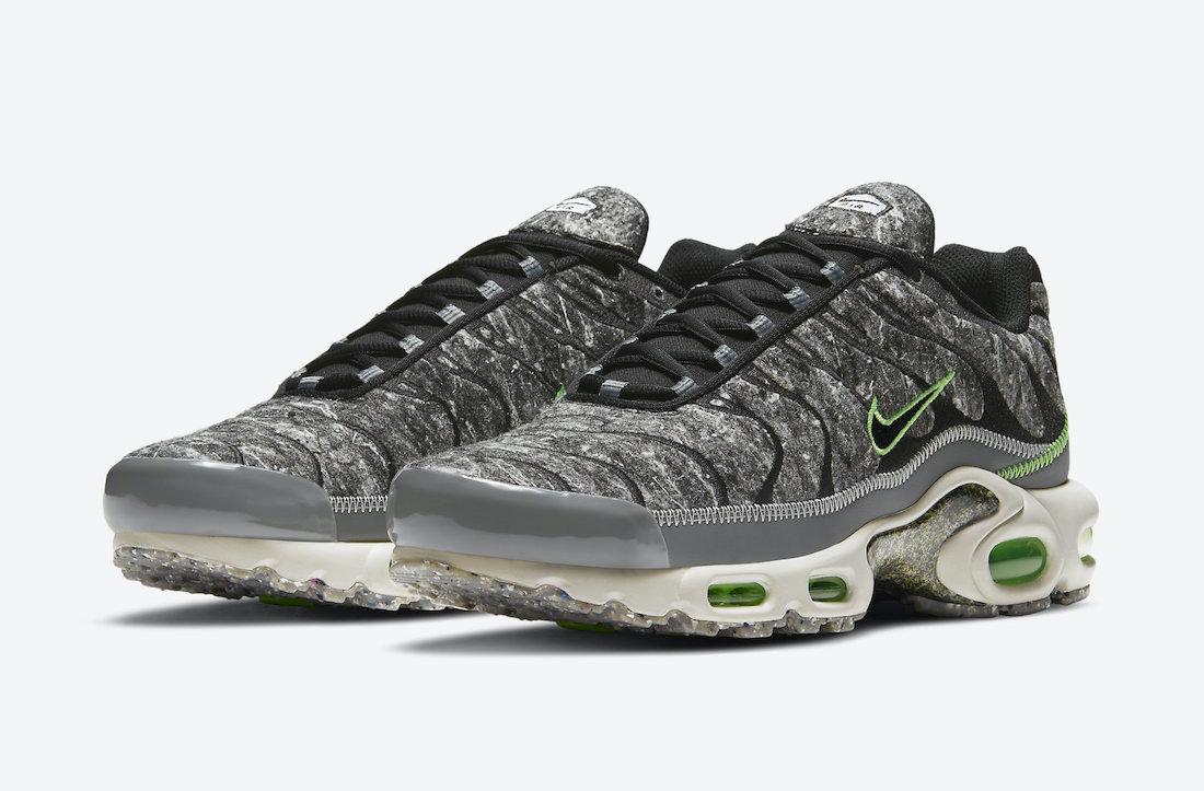 Nike Air Max Plus Essential Crater Electric Green DA9326-001 Release Date Info