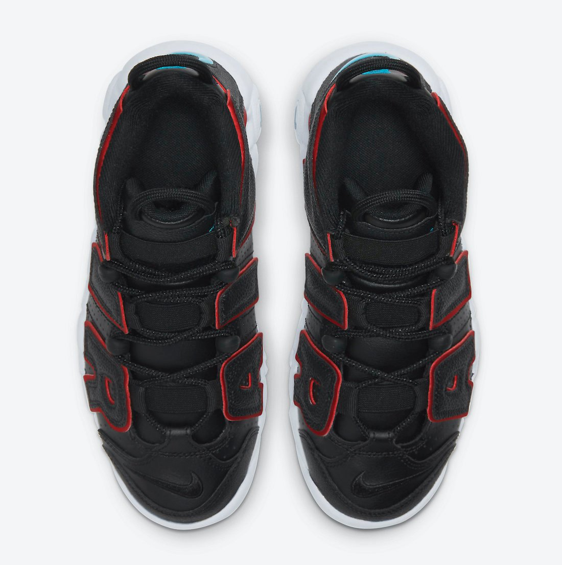Nike Air More Uptempo GS Black White Red DJ4610-001 Release Date Info