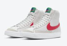Nike Blazer Mid 77 Kids Blue Green Crimson DA4086-004 Release Date Info