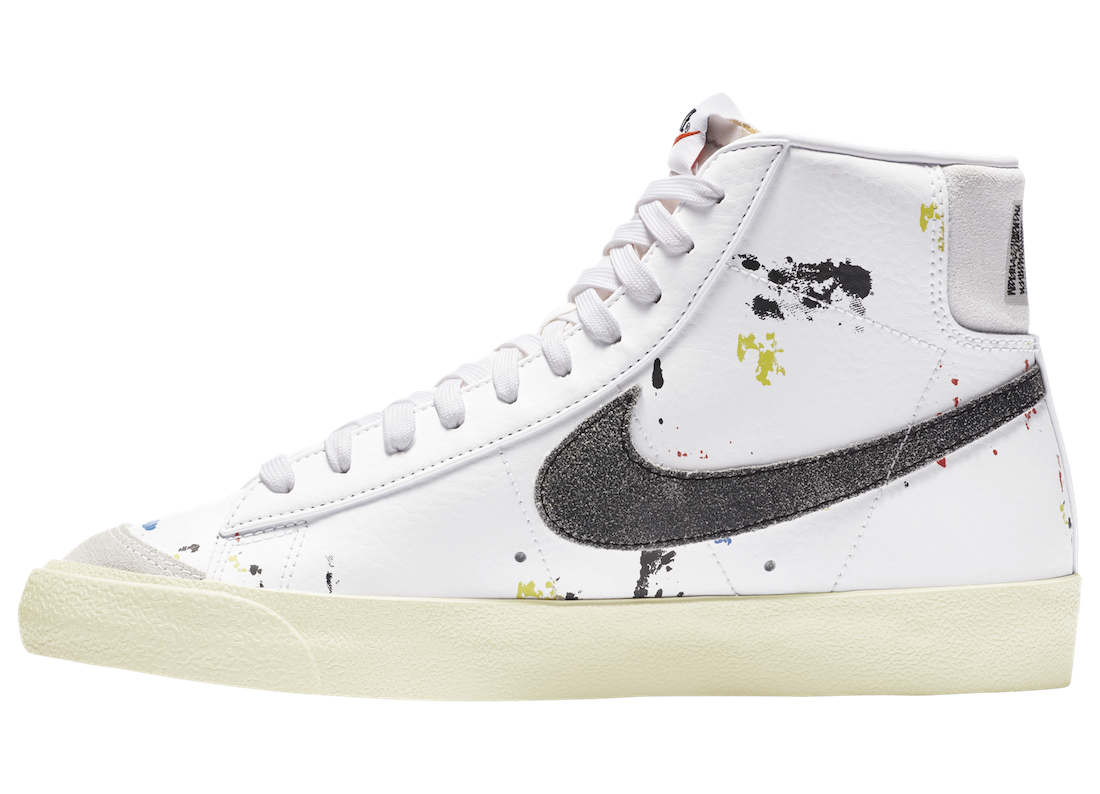 Nike Blazer Mid 77 Paint Splatter DC7331-100 Release Date Info