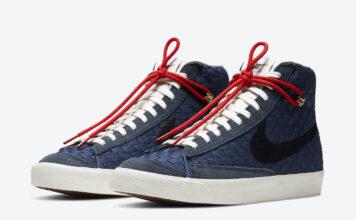 Nike Blazer Mid 77 Sashiko Navy Blue DD5486-492 Release Date Info