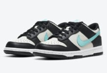 Nike Dunk Low GS Grey Black Blue CW1590-003 Release Date Info