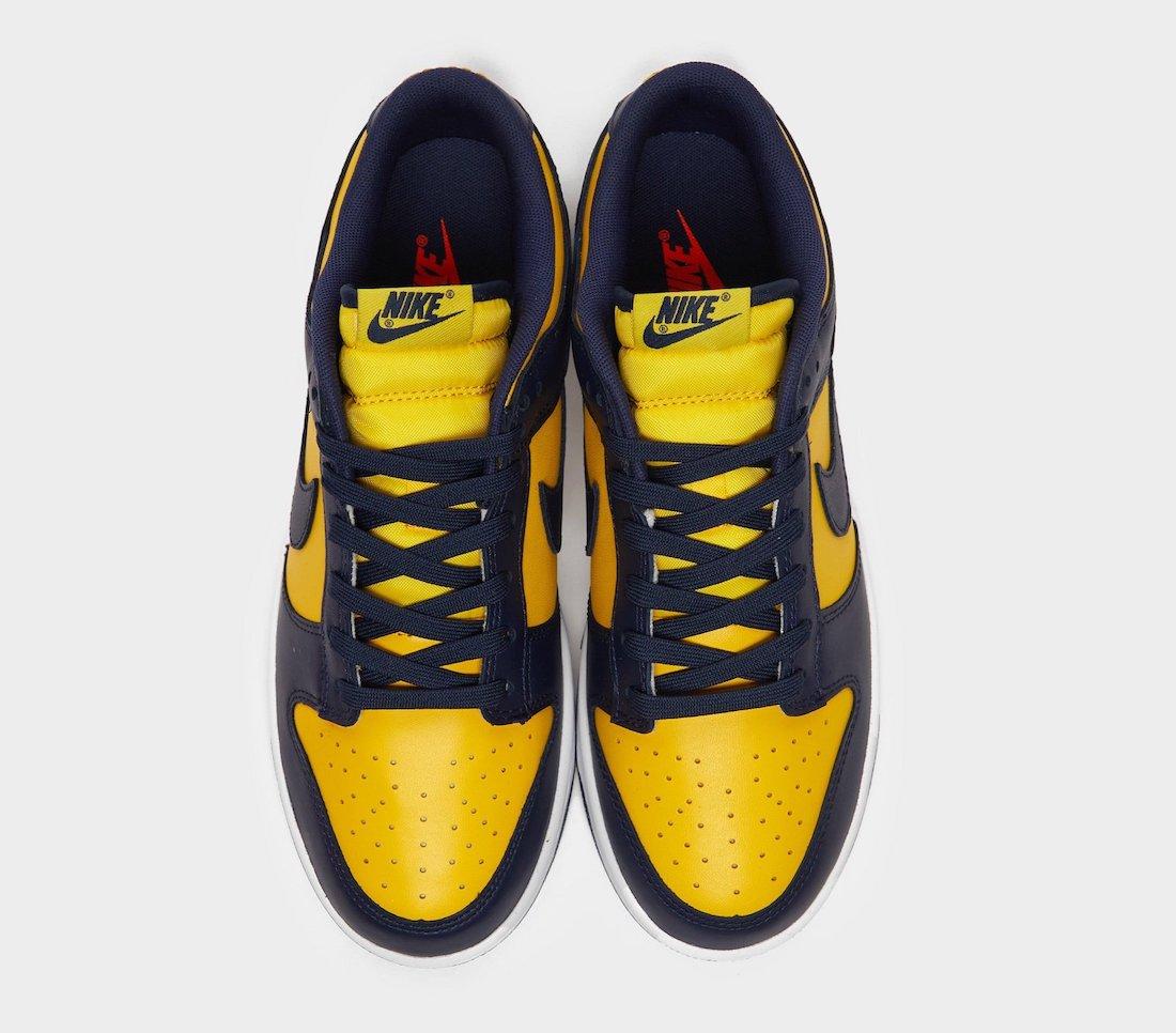 Nike Dunk Low Michigan DD1391-700 Release Info Price