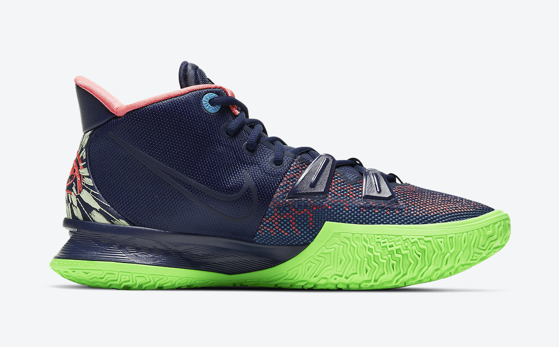 Nike Kyrie 7 Navy Green CQ9327-401 Release Date Info