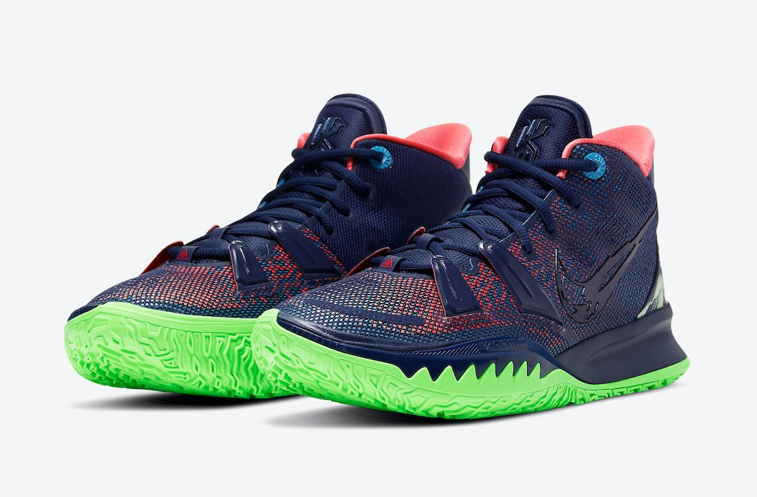 Nike Kyrie 7 Navy Green CQ9327-401 Release Date Info
