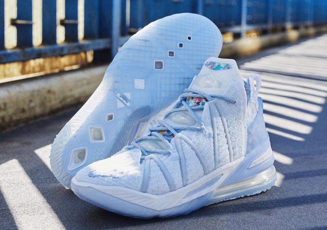 Nike LeBron 18 Blue Tint CW3156-400