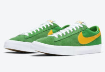 Nike SB Blazer Low GT Lucky Green University Gold DC7695-300 Release Date Info