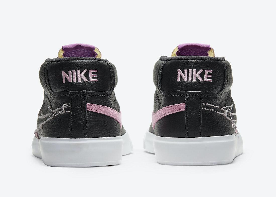 Nike SB Blazer Mid Edge Black Purple Nebula Pink Rise DA2189-002 Release Date Info