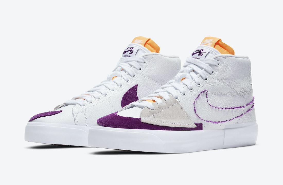 Nike SB Blazer Mid Edge White Purple DA2189-100 Release Date Info ...