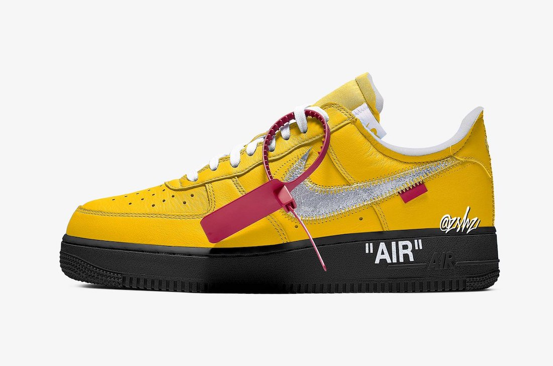 Off-White Nike Air Force 1 Low University Gold DD1876-700 Release Date Info