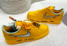 Off-White x Nike Air Force 1 University Gold Release Date