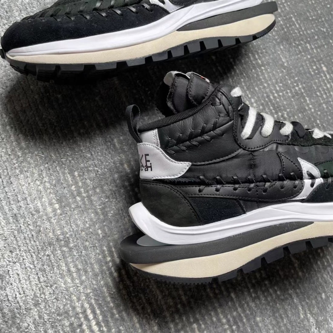 Sacai Jean Paul Gaultier Nike VaporWaffle Black White Release Date