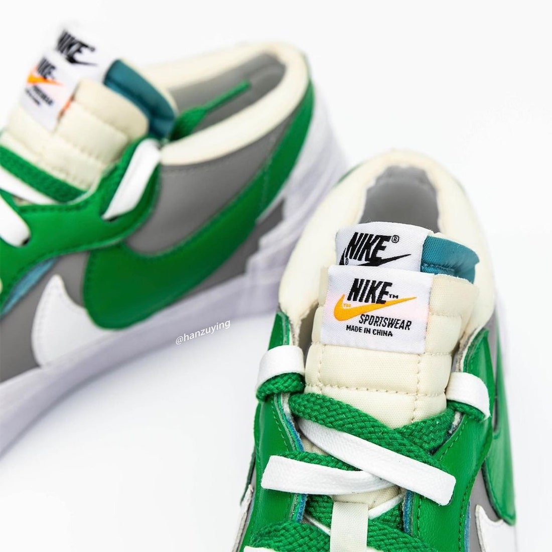 sacai nike blazer low classic green release date DD1877 001 5