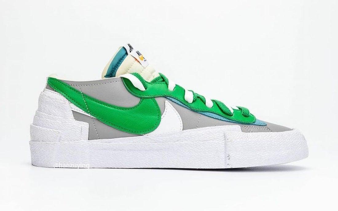 Sacai Nike Blazer Low Classic Green Release Date DD1877-001