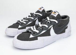 Sacai Nike Blazer Low Dark Grey DD1877-002 Release Date