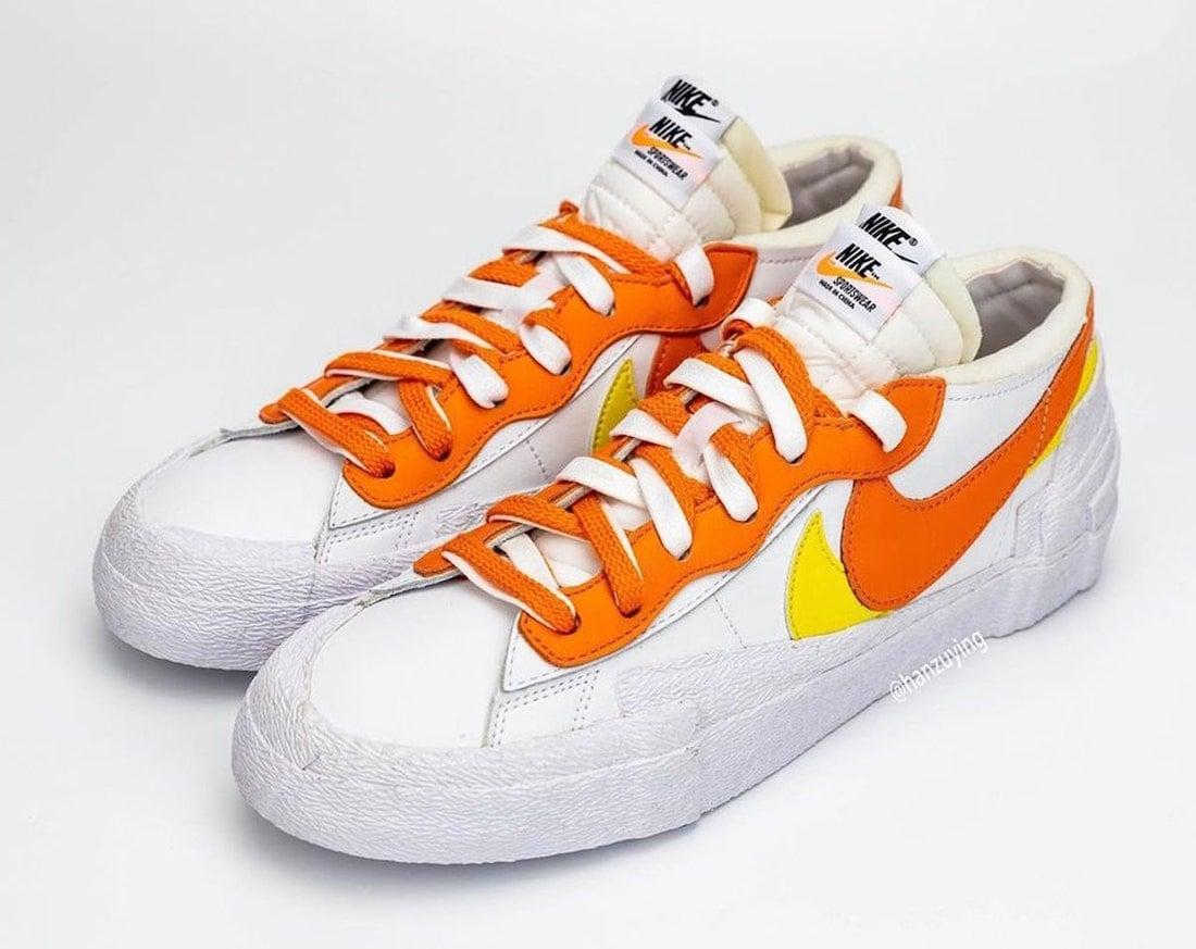 Sacai Nike Blazer Low Magma Orange Release Date DD1877-100