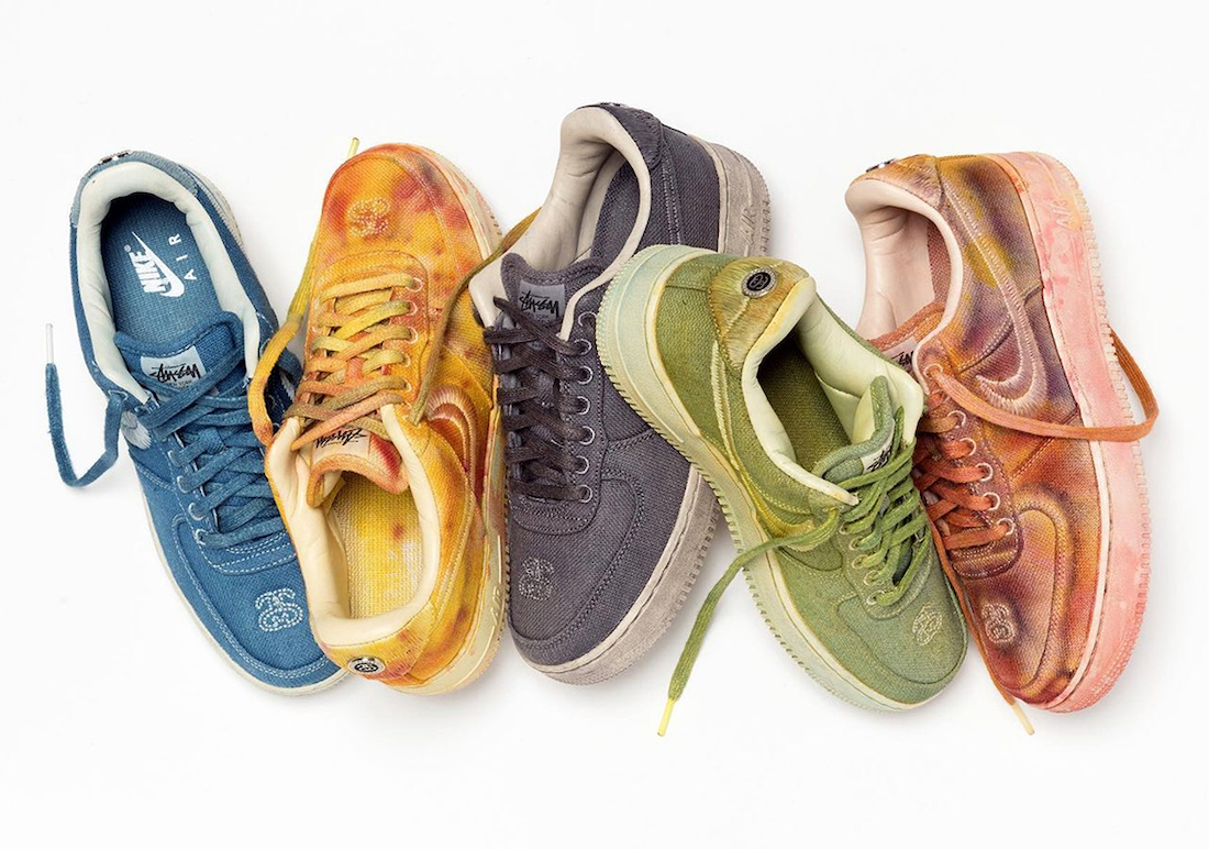 Stussy Releasing Hand-Dyed Nike Air Force 1s