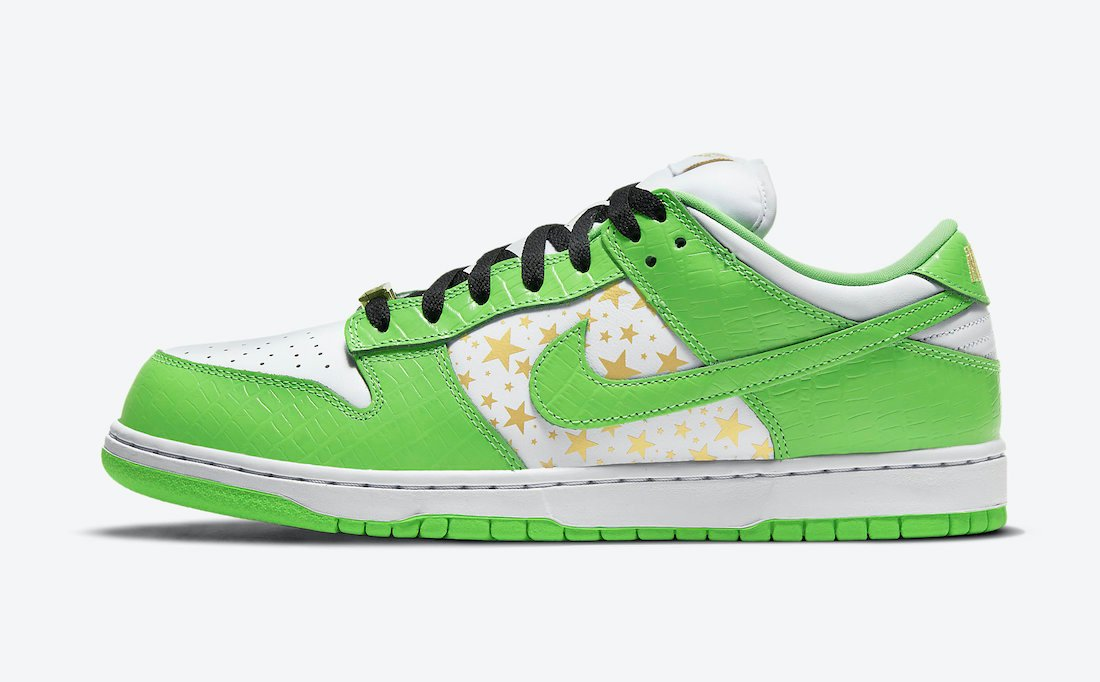 Supreme Nike SB Dunk Low Mean Green DH3228-101 Release Info Price