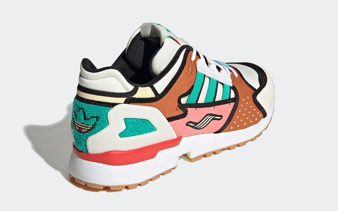 The Simpsons adidas ZX 10000 Krusty Burger H05783 Release Date Info