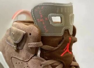 Travis Scott Air Jordan 6 Kids British Khaki