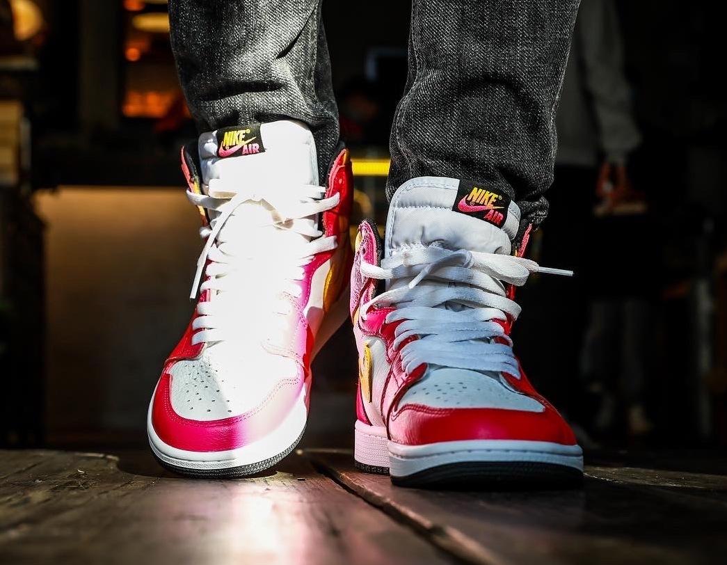 Air Jordan 1 High OG Light Fusion Red 555088-603 On-Feet Price