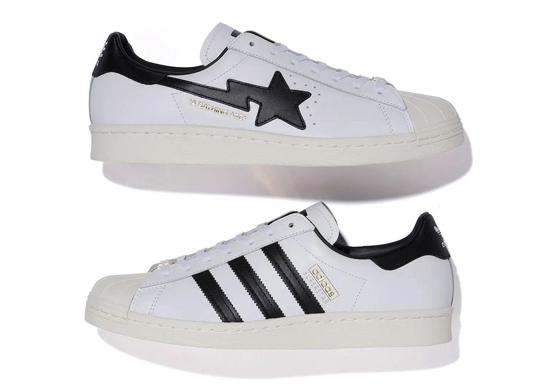 Bape adidas Superstar White Black Release Date